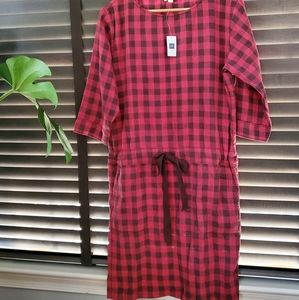 Gap Red Checkered Dress S